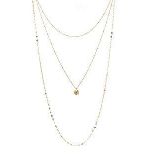 Triple Layer Drop Necklace