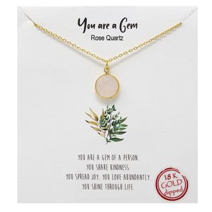 You are a Gem Carded Necklace