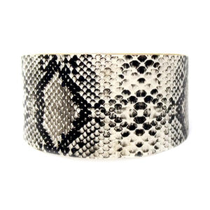 Snake Skin Tapered Cuff