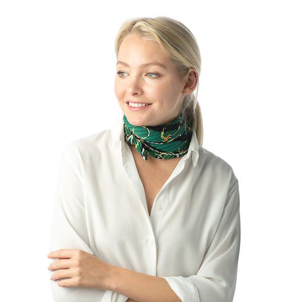 Pleated Tie Neck Scarf