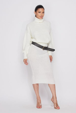Turtleneck Sweater & Skirt Set