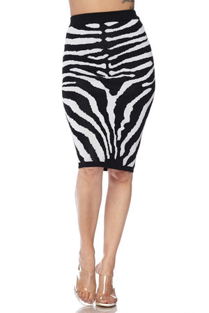 Zebra Knit Skirt
