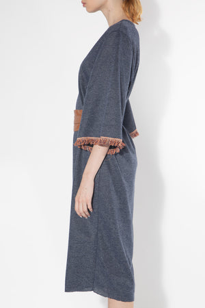Obi Belted Knit Shift Dress