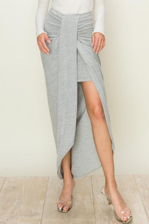 Drape Pencil Midi Skirt