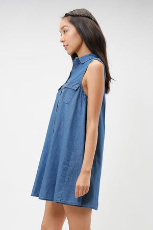 Chambray Swing Dress