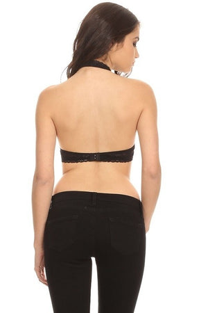 Basic Backless Halter Bralette
