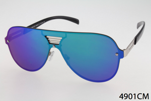 Single Lens Round Wayfarer Sunglasses
