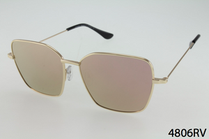 Rectangular Metal Frame Sunglasses