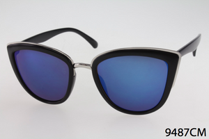 Cat Eye with Color Mirror Sunglasses