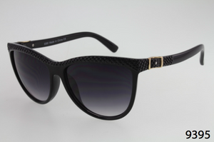 Oval Textured Frame Sunglasses