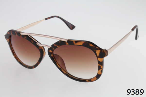 Mixed Plastic & Metal Aviator Sunglasses