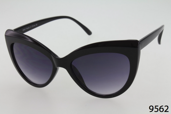 Thick Plastic Frame Cat Eye Sunglasses