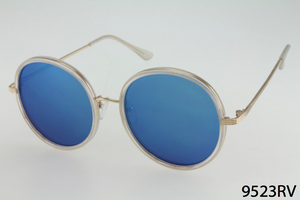 Super Round Plastic & Metal Frame Sunglasses