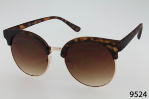 Rounded Clubmaster Sunglasses