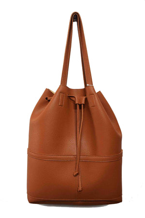 BUCKET BAG WITH FRONT POCKETS