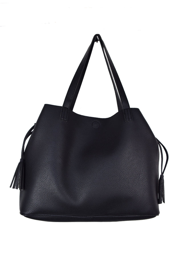 CARRYALL TOTE BAG WITH TASSELS