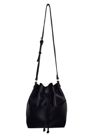 BUCKET BAG W/ FRONT POCKETS