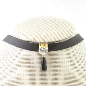 Diamond with Crystal Drop Choker