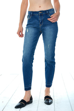 Braided Belt Loop Ankle Jean