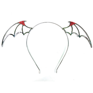 Red Hot Bat Ears Headband