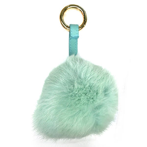 Faux Fur Pom Pom Bag Charm
