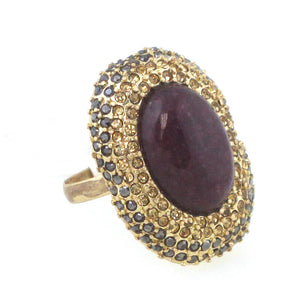 Stone Jewel Stmt Ring