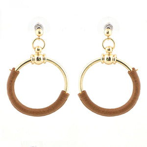 Leather Hoops