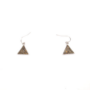 Mini Crystal Triangle Earrings