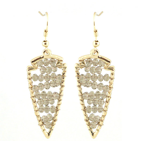 Crystal Filled Arrow Stmt Earrings