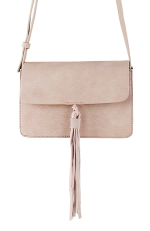 CROSSBODY BAG WITH SUEDE TASSEL