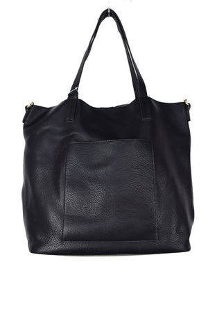 FRONT POCKET TOTE WITH STRAP