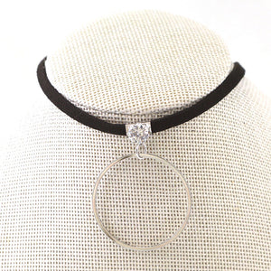 Diamond & Circle Drop Choker NL