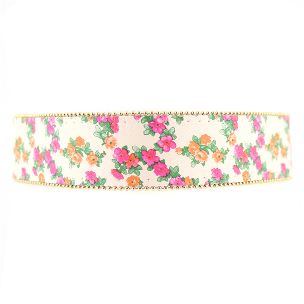 Sprign Flowers Faux Leather Choker