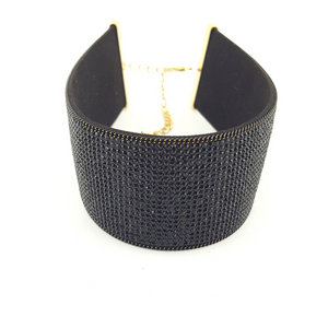 Thick Crystal Band Choker