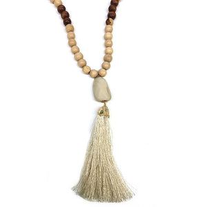Earth Beads with Silk Fringe
