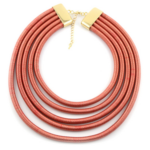 Layered Slinky Necklace