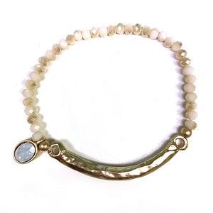 Crystal Bracelet with Drop