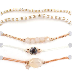 Dainty 5 Layer Bracelet Set