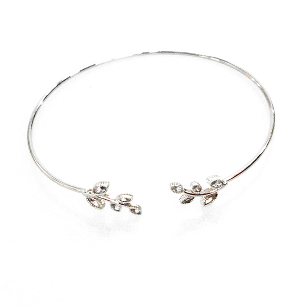 Dainty Leaves Open Bangle