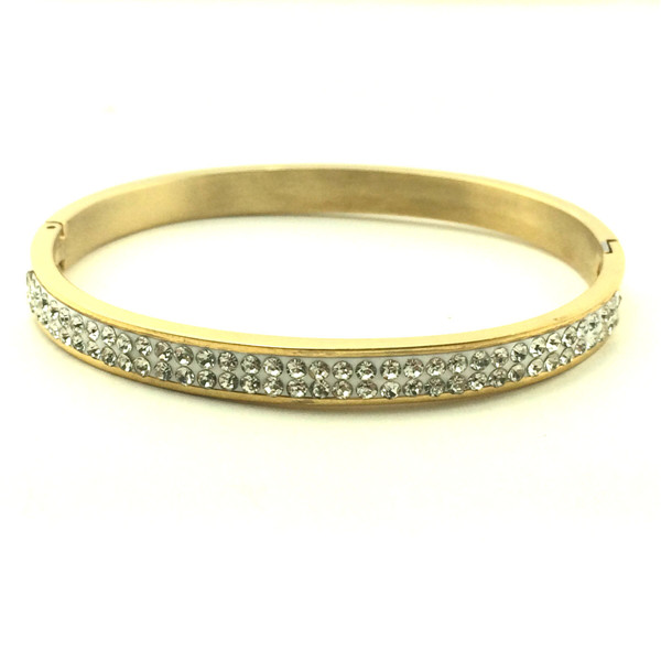 Double Row Diamond Bangle