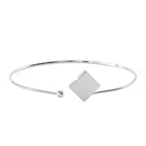 Square Open Bangle
