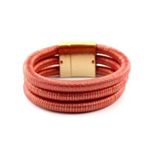 3 Layer Metalic Rope Bracelet