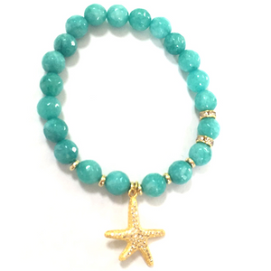 Beaded BR with Starfish Charm