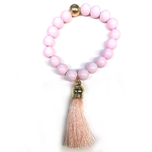 Stretch Bracelet with Tassel