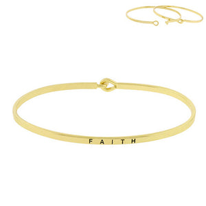 """Faith"" Message Bar Bracelet"