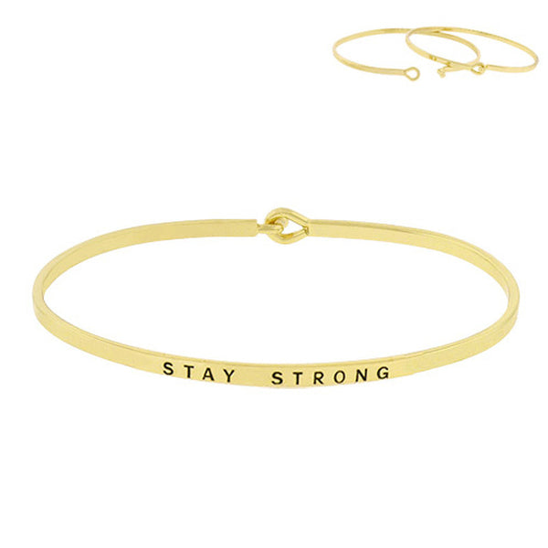 """Stay Strong"" Message Bracelet"