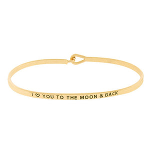"""I love you to the Moon & Back"" Message BR"