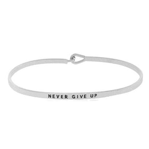 """Never give up"" Message Bracelet"