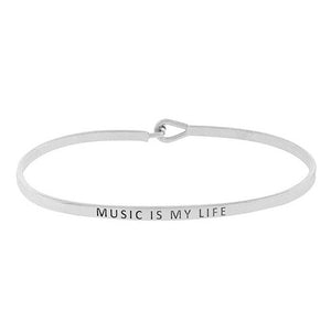 """Music is my Life"" Message Bracelet"