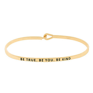 """Be True Be You Be Kind"" Message Bracelet"